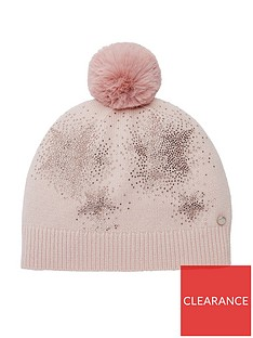 7b5322b4a70830 Ted Baker Ted Baker Jenisis Nude Pink Star Detail Pom Hat