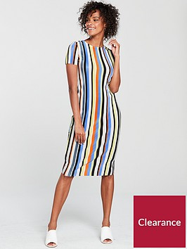 river-island-stripe-plisse-midi-dress