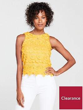 river-island-river-island-lace-brorderie-shell-top-yellow