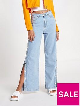 river-island-river-island-popper-side-stripe-wide-leg-jeans
