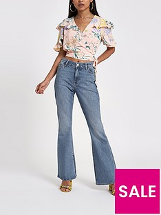 ri-petite-marnie-flare-jeans--mid-blue