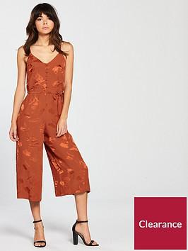 river-island-river-island-jacquard-print-jumpsuit-rust