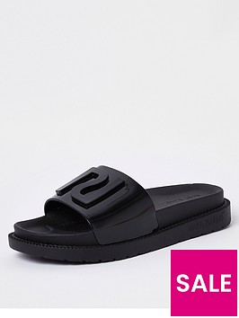 river-island-jelly-slider-black
