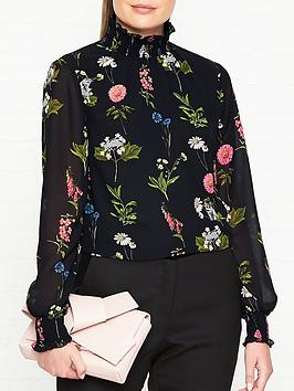 ted-baker-taalia-florence-sheared-blouse-black