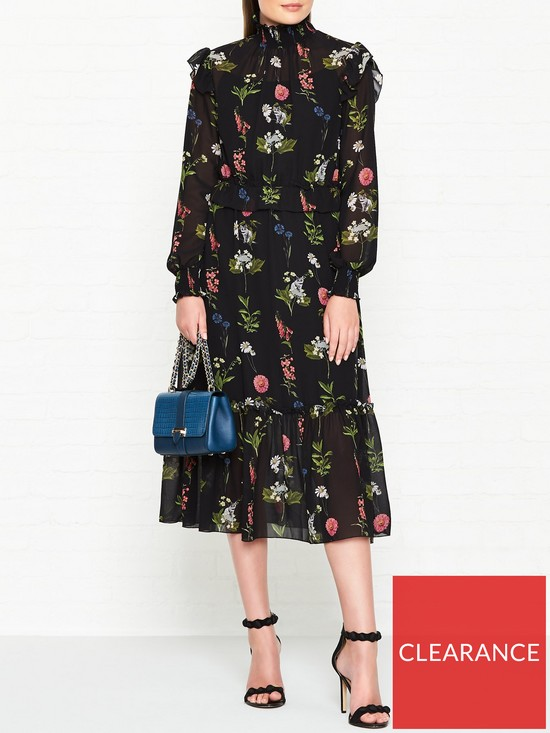 82de7d3eeaa109 Ted Baker Simarra Florence Long Sleeve Midi Dress - Black