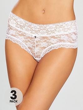 boux-avenue-lia-lacey-short-3-pack-white