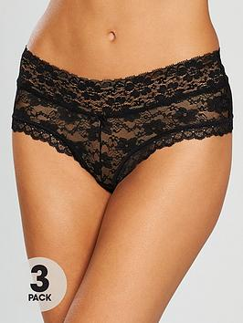 boux-avenue-lia-lacey-short-3-pack-black
