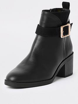 river-island-buckle-detail-boots-black