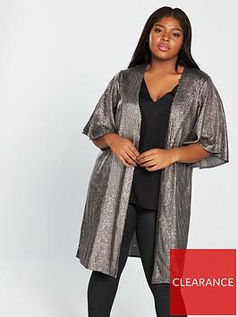 v-by-very-curve-sequin-longline-kimono-silvernbsp