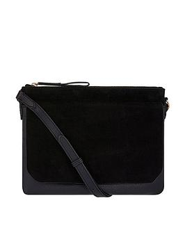 Accessorize Billie Leather Crossbody Bag - Black