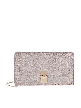 Accessorize Charlotte Sparkle Clutch Bag - Pink