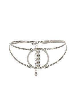 v-by-very-aspen-pearl-choker-silver