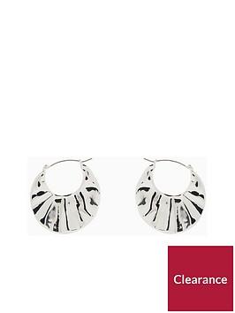 v-by-very-aaliyah-hammered-hoop-earrings-silver