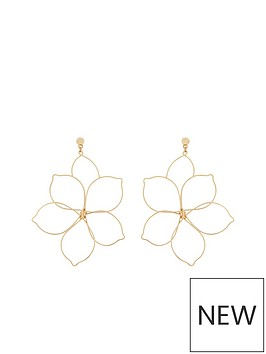 v-by-very-alissa-flower-metal-earrings-gold