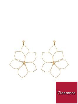 v-by-very-alissa-flower-metal-earrings-gold