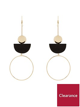v-by-very-africa-wood-metal-mix-drop-earrings-gold