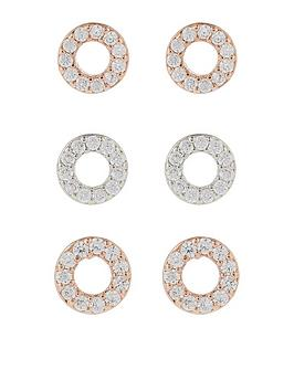 accessorize-3-circle-stud-set-earrings