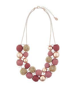 accessorize-textured-balls-round-necklace-pink