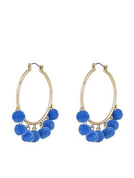 accessorize-mini-pom-hoop-earrings-bluenbsp