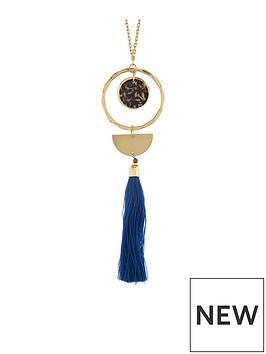 accessorize-accessorize-resin-ring-tassel-long-pendant-necklace