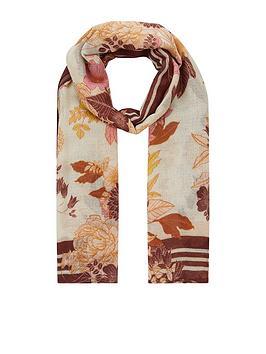 accessorize-mocha-floral-classic-silk-skinny-scarf-multi