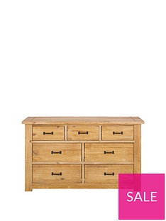 Albion Solid Pine 4 + 3 Drawer Chest