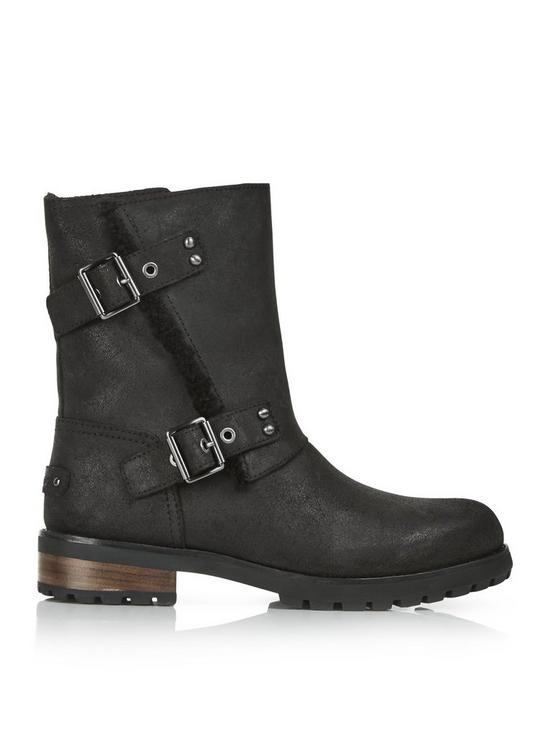 4061eaa3932 Niels Frey Buckle Ankle Boots - Black