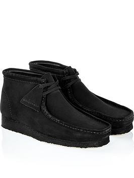clarks-originals-mens-suede-wallabee-boots-black