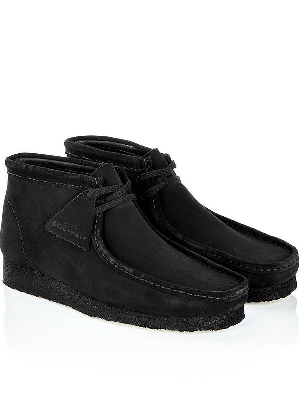 details for top-rated newest innovative design Men's Suede Wallabee Boots - Black