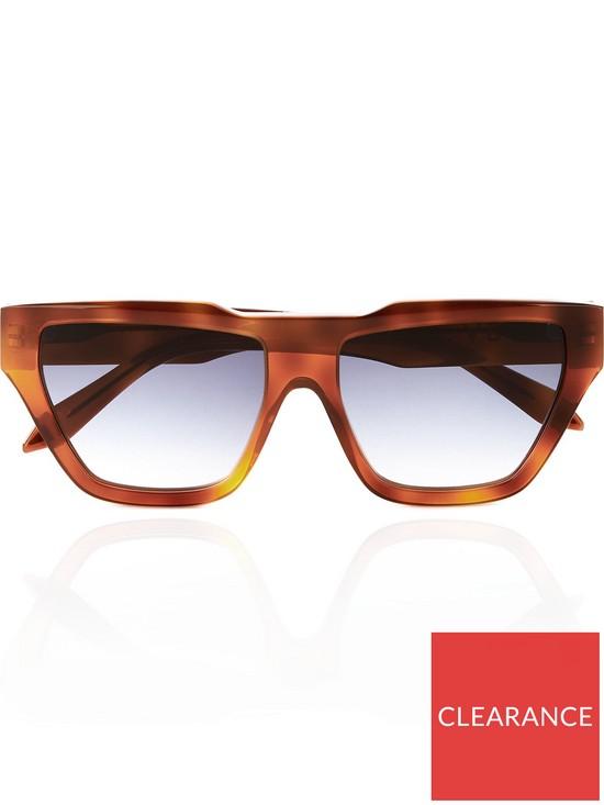 d7e261df0e VICTORIA BECKHAM Square Cat Eye Sunglasses - Tort