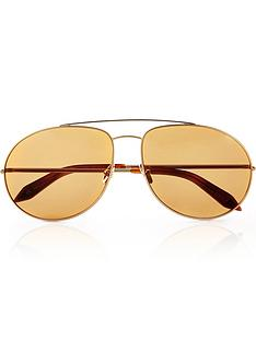 victoria-beckham-double-bridge-metal-aviator-sunglasses-gold