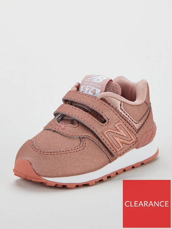 sports shoes 709b1 0a81e New Balance New Balance 574 Hook   Loop Closure Infant Trainers   very.co.uk