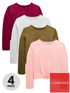 v-by-very-girls-4-pack-tie-up-long-sleeve-t-shirts-multi