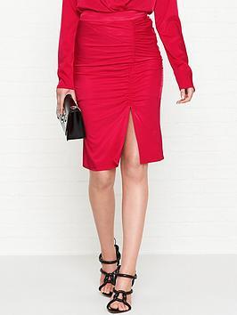 gestuz-rosie-gathered-skirt-red