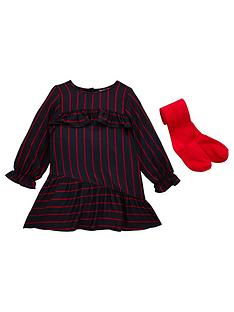 mini-v-by-very-girls-navy-red-stripe-dress-with-tights