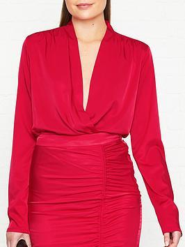 gestuz-rosie-plunge-body-suitnbsp--red