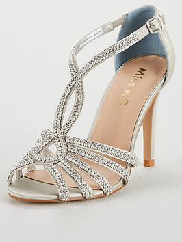 Miss Kg Diamente Detail Heeled Sandal