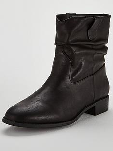 miss-kg-flat-rouched-ankle-boots