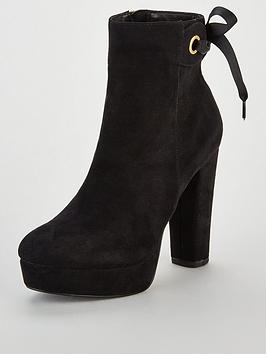 Miss Kg Sheree Bow Platform Ankle Boot - Black