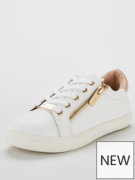 carvela-jagged-zip-trainer-white