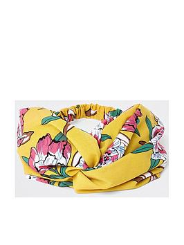 river-island-river-island-floral-print-headband-yellow