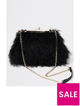 river-island-river-island-fluffy-chain-handle-bag-black