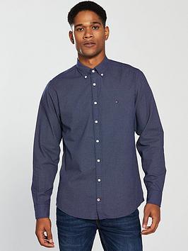 Tommy Hilfiger Dot Print Shirt, Blue, Size S, Men thumbnail