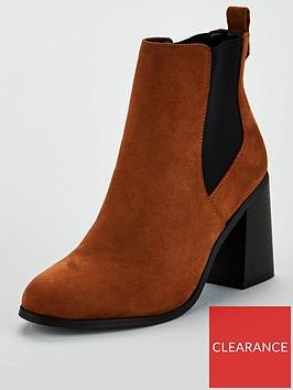 v-by-very-farrah-high-flare-heel-chelsea-boot-tan