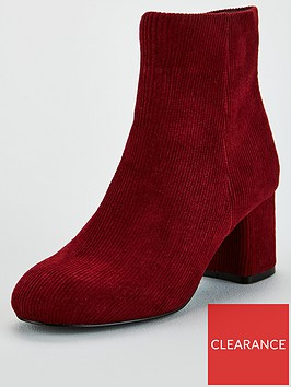 v-by-very-flo-cord-block-heel-ankle-boot-burgundy