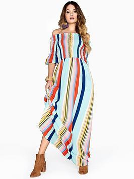 Girls On Film Fenty Maxi Dress - Candy Stripe