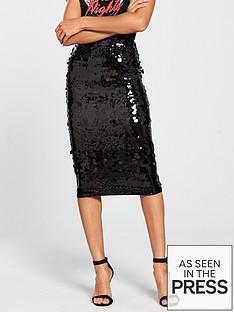 v-by-very-sequin-midi-skirt-blacknbsp