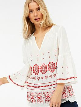 monsoon-clarissa-broderie-volume-sleeve-kaftan-top-white