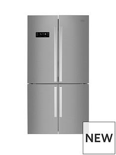 Beko MN1416224PX 91cmWide, Total No Frost, 4-Door American Fridge Freezer - Brushed Steel