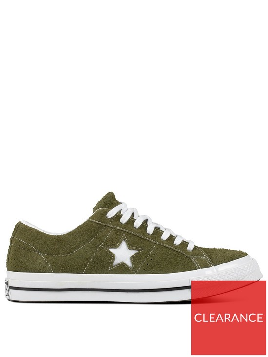 06272636997f Converse One Star Suede Ox - Khaki White
